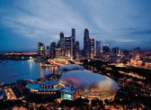 Singapore _Skyline Theatres on the Bay in foreground