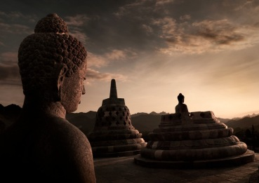 Borobudur_sunset