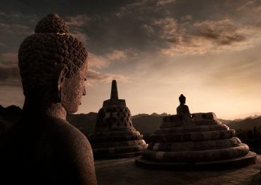 Borobudur_sunset