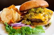 Green Chile Cheese Burger - New Mexico