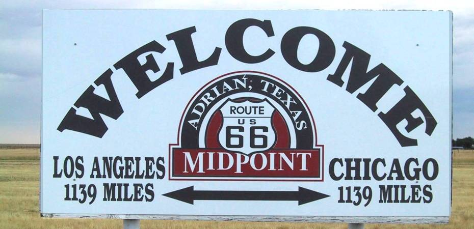 Midpoint Sign Route 66