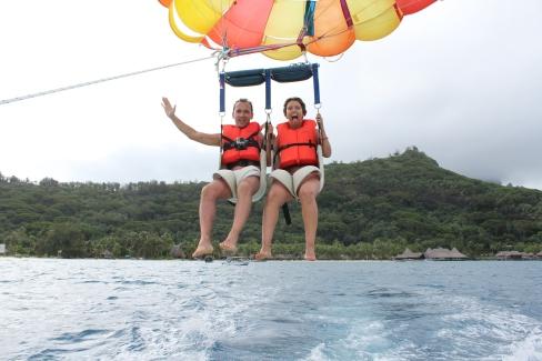 Parasailing a Bora Bora