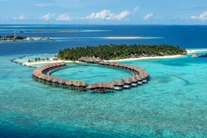 Vilu Reef - Maldive aerial view